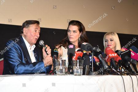 Richard Siegfried Lugner, Brooke Shields and Cathy Schmitz