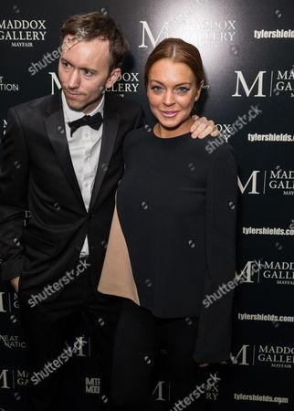 Stock Image of Tyler Shields and Lindsay Lohan