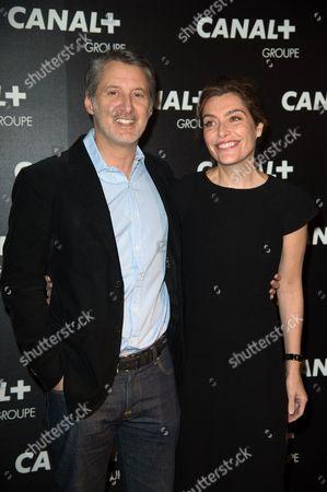 Antoine de Caunes and wife Daphne Roulier