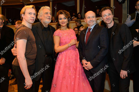 Vladimir Malakov, Placido Domingo, Olga Peretyatko, Dominique Meyer, Manuel Legris
