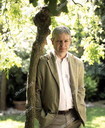 Jonathan Coe in his garden