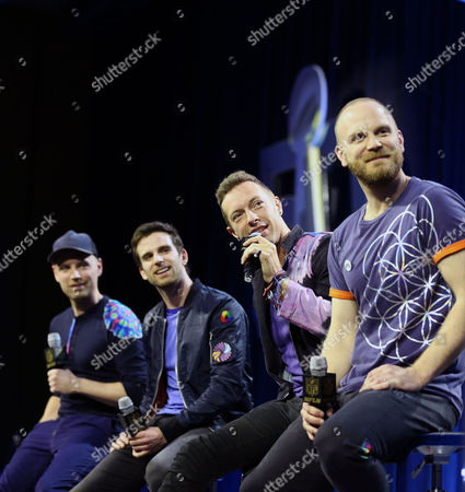 Editorial picture of Coldplay, Super Bowl 50, Halftime show.  San Francisco, CA, USA