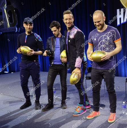 Editorial image of Coldplay, Super Bowl 50, Halftime show.  San Francisco, CA, USA