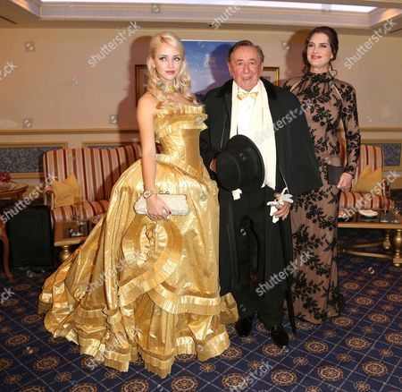 Cathy Lugner, Brooke Shields and Richard Siegfried Lugner