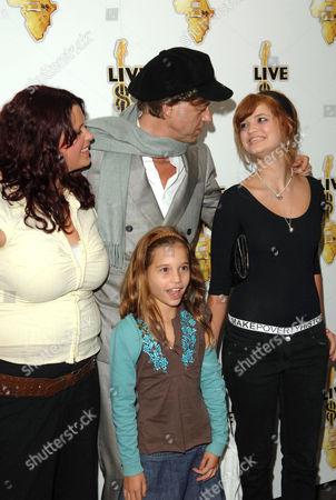 Fifi Trixibelle Geldof, Tiger Lily, Bob Geldof and Pixie Geldof