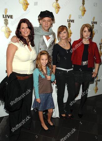 Fifi Trixibelle Geldof, Tiger Lily, Bob Geldof, Pixie Geldof and Peaches Geldof