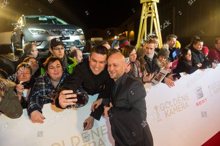 Jurgen Vogel with fans
