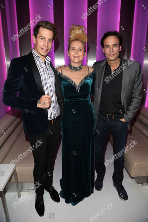Florian Wess, Helena Furst and Anthony Delon at Hotel Le Meridien