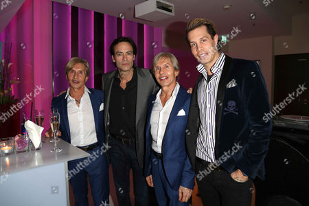 Arnold Wess, Anthony Delon, Oscar Wess, Florian Wess at Hotel Le Meridien