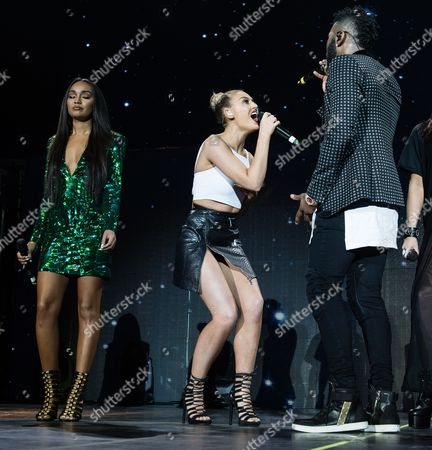 Jason Derulo with special guests Little Mix. Jason Derulo, Perrie Edwards, Leigh-Ann Pinnock