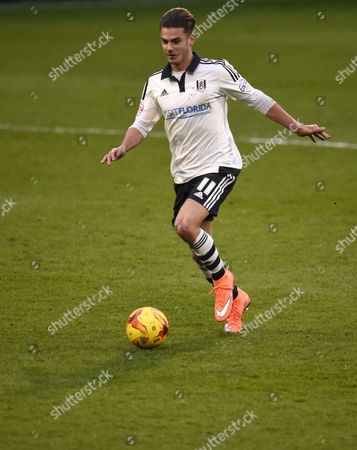 Alex Kacaniklic of Fulham during the Sky Bet Championship match between Fulham and Derby County played at Craven Cottage, London on February 6th 2016