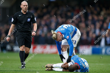 David Hoilett of QPR is injured during the SkyBet Championship match between QPR and Ipswich Town played at Loftus Road Stadium, London on February 6th 2016