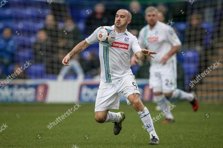 Gary Taylor-Fletcher (Tranmere Rovers) controls the ball during the Vanarama National League match between Tranmere Rovers and Southport at Prenton Park, Birkenhead