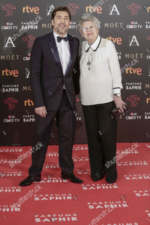 Javier Bardem and his mother Pilar Bardem