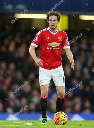 Daley Blind of Manchester United - Chelsea v Manchester United, Barclays Premier League, Stamford Bridge, London. 7 Feb 2016 Picture by Richard Calver