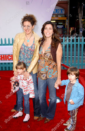 Joely Fisher and Daughter Skylar, Tricia Leigh Fisher and son Holden