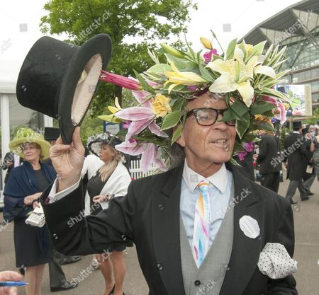 Stock Photo of David Shilling Ejected From Ascot For Wearing A Flowery Hat 18.6.13 Reporter Louise Eccles.
