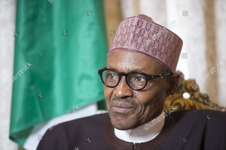 Nigerian President Muhammadu Buhari during interview with Colin Freeman