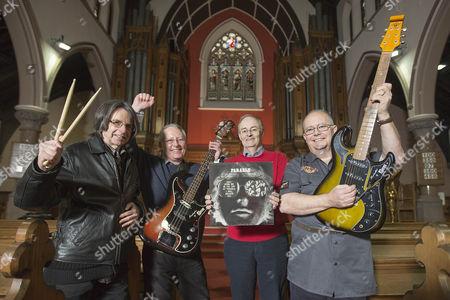 (L-R) Alex Smith 65 (Drums), Dave McRoberts 62 (Bass), David Murdoch 65 (Piano), Doug McRoberts 66 (Guitar)