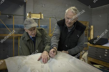 Volunteers John Guy (right) and Jim O'Donnell working on a part of a Sopworth Strutter under construction by members of the Aviation Preservation Society of Scotland (APSS) at a workshop on the site of the Museum of Flight at East Fortune