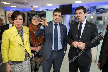 Theresa Griffin MEP, Julie Ward MEP, Juergen Maier CEO of Siemens and Andy Burnham MP