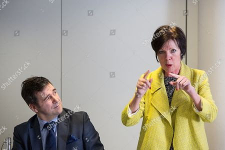 Juergen Maier CEO of Siemens and Theresa Griffin MEP