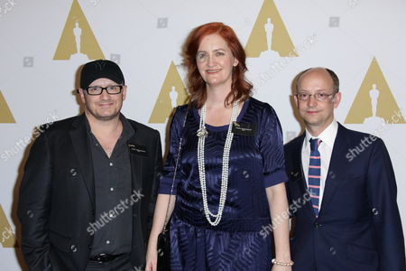 Lenny Abrahamson, Emma Donoghue and Ed Guiney