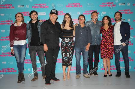 Jesus Ochoa, Sandra Echeverria, Monica Huarte, Arath de la Torre and guests