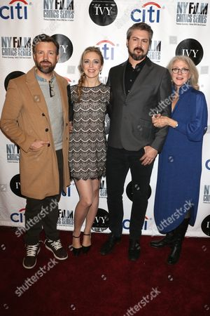 Stock Picture of Jason Sudeikis, Screenwriter Desiree Van Til, Director Sean Mewshaw and Blythe Danner