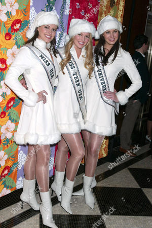 Chelsea Cooley, Miss USA 2005, Allie LaForce, Miss Teen USA 2005 and Natalie Glebova  - Miss Universe 2005