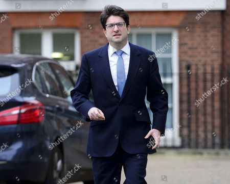 Lord Feldman Tory Party Chairman leaving cabinet meeting via the back door