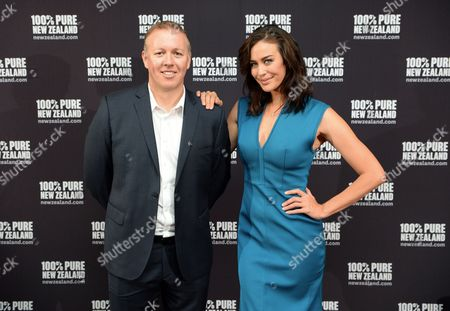 Megan Gale with guest