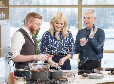 Paul A Young, Holly Willoughby and Phillip Schofield