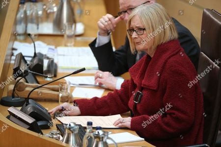 Rt Hon Tricia Marwick, The Presiding Officer of The Scottish Parliament, a few minutes before the start of FMQs