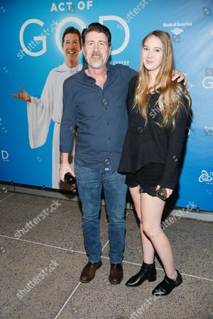 Stock Photo of Jim Piddock and daughter Ally Piddock