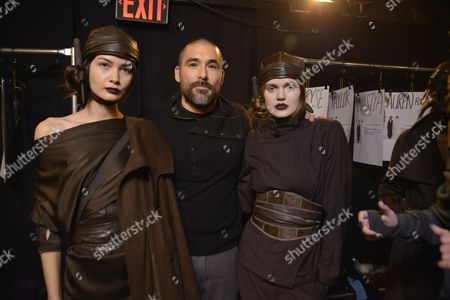 Stock Photo of Christopher Kunz and models backstage