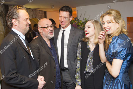 Matthew Perry (Author/Jack), Lindsay Posner (Director), Lloyd Owen (Joseph), Christina Cole (Stevie) and Jennifer Mudge (Stephanie)