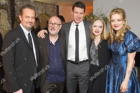 Stock Photo of Matthew Perry (Author/Jack), Lindsay Posner (Director), Lloyd Owen (Joseph), Christina Cole (Stevie) and Jennifer Mudge (Stephanie)
