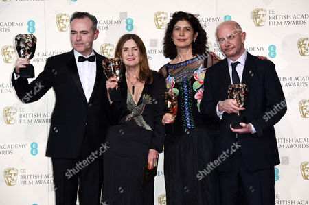 John Crowley, Finola Dwyer, Amanda Posey and Nick Hornby - Outstanding British Film for Brooklyn