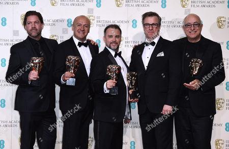 Editorial image of EE BAFTA British Academy Film Awards, Press Room, Royal Opera House, London, Britain - 14 Feb 2016