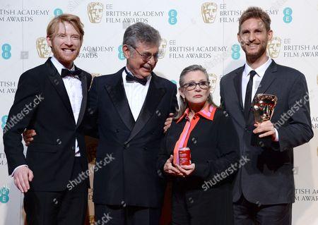 Domhnall Gleeson, Hugo Sigman and Carrie Fisher Damian Szifron