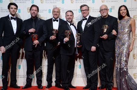 Colin Morgan, Chris Duesterdiek, Martin Hernandez, Frank A. Montano, Jon Taylor, Randy Thom and Sonoya Mizuno 'The Revenant',