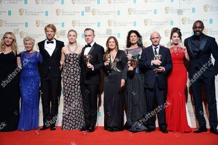 Kate Winslet, Julie Walters, Domhnall Gleeson, Saoirse Ronan, John Crowley, Finola Dwyer, Amanda Posey, Nick Hornby, guest and Idris Elba