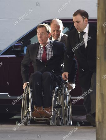 Frank Gardner, the BBC's security expert, attends the service