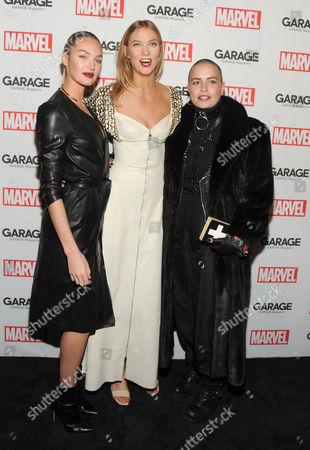 Candice Swanepoel, Karlie Kloss and Cuba Tornado Scott