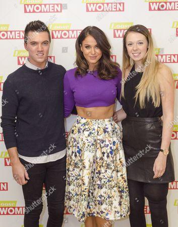 Vicky Pattison with Leah Washington and Joe Pugh