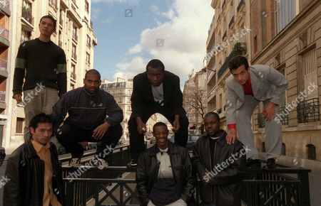 Editorial picture of The Yamakasi at a photocall for their film, Paris, France - 2004