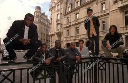Editorial image of The Yamakasi at a photocall for their film, Paris, France - 2004