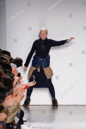 Monika Kowalska on the catwalk
