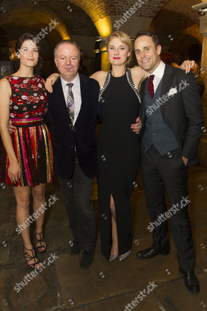 Gemma Arterton (Nell Gwynn), Christopher Luscombe (Director), Jessica Swale (Author) and Jay Taylor (Charles Hart)